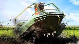 New tracked ATV 85 hp, full review and test on swamp