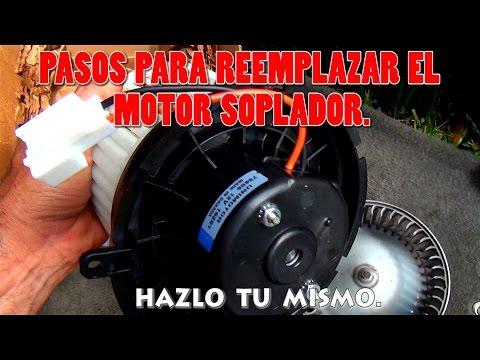 Pasos para reemplazar el Motor soplador y resistencia del aire acondicionado del carro