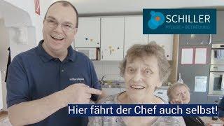 Schiller-Pflege, hier fährt der Chef auch noch selbst!