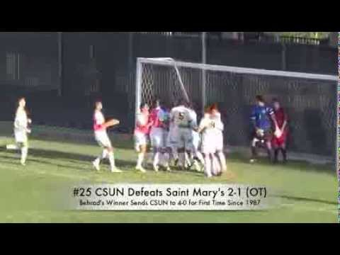 #25 Cal State Northridge Game-Winning OT Goal Over Saint Mary's