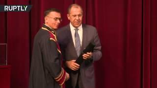 Лавров стал почетным доктором Пирейского университета