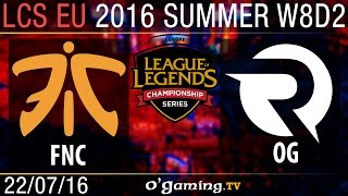 Fnatic vs Origen - LCS EU Summer Split 2016 - W8D2