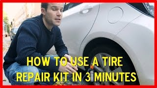 How to use a tire repair kit in 3 minutes with this video.Having troubles with a flat tirein your car or auto, don´t know how to use your repair kit for the falt tire in your auto.Don´t worry with this flar tire video you will learn in 3 minutes how to do it.No more problems with the flat tire and how to change it, if you don´t have a replaceble tire for your car, and you have your tire repair kit then use it as shown in the video.This 3 minutes video will help you learn how to use a tire repair kit.
