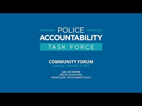Police Accountability Task Force Community Forum – Tuesday, February 2, 2016