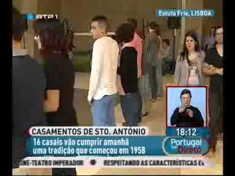 RTP Portugal em Direto: Casamentos de Santo António