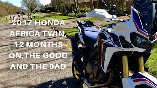 2. 2017 HONDA AFRICA TWIN 12 MONTHS ON , Watch this video before buying one, the good & the bad!