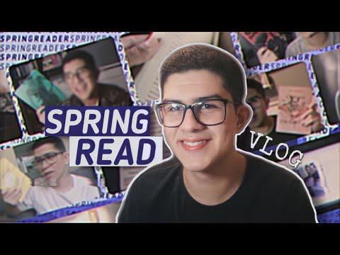 VLOG DE LEITURA: lendo 6 livros e tentando bater metas   Spring Read #1