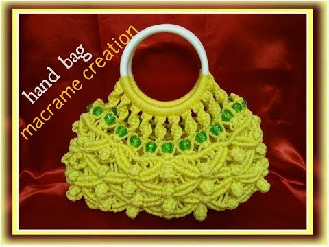 Macrame Bag In Round Shape Tutorial In Hindi Part -1