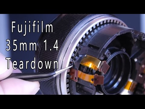 Repair Fuji 35mm 1.4 (partial teardown) read description