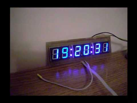 Blue led clock