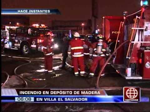 América Noticias - 120913 - Incendio en depósito de madera en VES