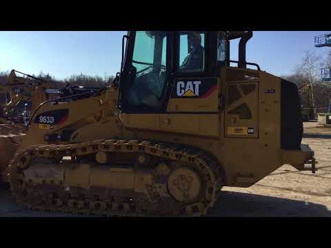 CATERPILLAR CHARGEURS SUR CHAINES 963D equipment video crOW0hKY6iI