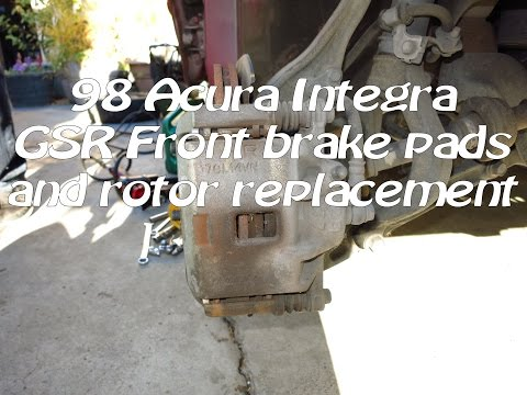 1994-2001 Acura Integra GSR front brakes replacement