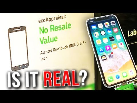 IS IT REAL?- Selling My iPhone X To a Machine at Walmart (REAL OR FAKE?)