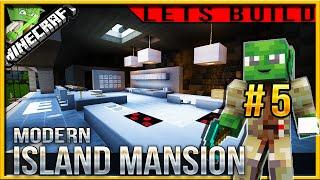 Minecraft 1.9 Modern Island Mansion Let's build (Jedi Mansion 3) E05 (kitchen)