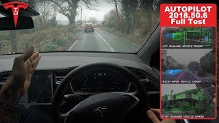 Testing Tesla Autopilot Self Drive On Tight Country Roads by Pokemon Cards