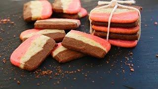 Drie kleuren koekjes