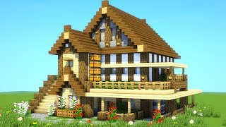 BEST SURVIVAL HOUSE TUTORIAL EVER - How to build an ultimate minecraft house 2019
