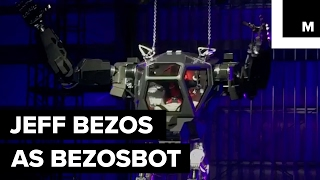 Jeff Bezos, CEO of Amazon, got to control a 13-foot-tall robot at MARS Conference in Vero Beach, Fla. The conference was an invite-only Amazon sponsored event.READ MORE: http://mashable.com/FACEBOOK: https://www.facebook.com/mashable/TWITTER: https://twitter.com/mashableINSTAGRAM: https://www.instagram.com/mashable/
