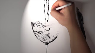 Water Drawing - [Jung Hyun Lee] - [HD](Music) pencil drawing, time-lapse, graphite