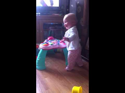 Mommy's sneeze scares the little one