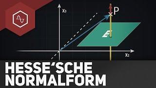 Abstand Punkt - Ebene über HNF (Hesse'sche Normalform)   Gehe auf THESIMPLECLUB.DE/GO
