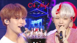 [HOT]SEVENTEEN - Oh My!, 세븐틴 - 어쩌나 Show Music core 20180804