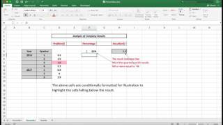 """Numerical data can be analysed using the PERCENTILE and QUARTILE functions in Excel.The result indicates those values which fall below nominated percentages.The file can be downloaded for free from unitedcomputerconsultants.com/excel and look for the file """"percentile"""". Use it to follow along with the video. Visit us at : http://unitedcomputerconsultants.comTweet us at: http://twitter.com/geoffhudson7"""
