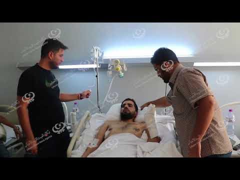 مدير مكتب الإعلام الأمني بمديرية أمن توكرة يزور الجرحى في تونس
