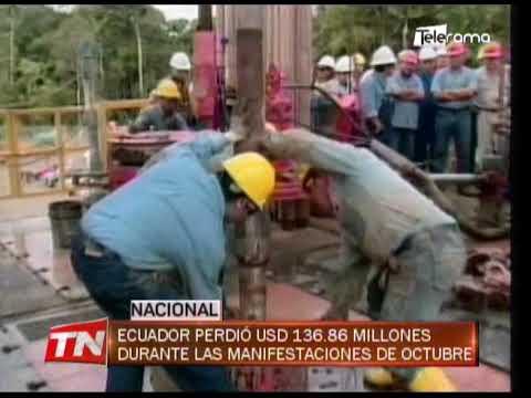 Ecuador perdió USD 136.86 millones durante las manifestaciones de octubre