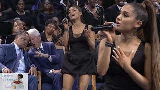 Ariana Grande DRAGGED for wearing SHORT black dress while PERFORMING at ARETHA FRANKLIN's service!