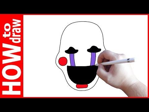 How to draw Puppet, FNAF, Как нарисовать Марионетку