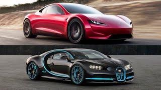 9. 2020 Tesla Roadster Vs 2018 Bugatti Chiron - Top Speed!!
