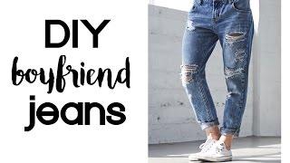 DIY Boyfriend Jeans   Thrift Flip Under $10