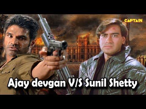 Ajay Devgan V/S Sunil Shetty    Top Action Scenes Of Bollywood Movies