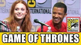 Game of Thrones cast Sophie Turner, Isaac Hempstead Wright, Alfie Allen, Jacob Anderson, John Bradley, Gwendoline Christie, ...
