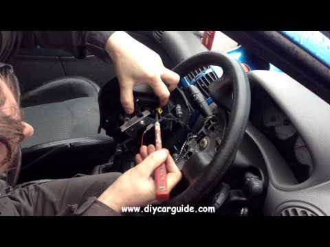 Peugot 206 Drivers Airbag (from steering wheel) Removal