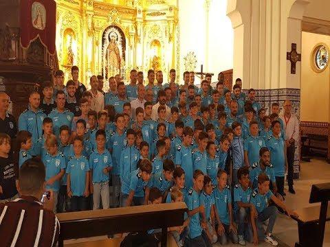 Ofrenda del Isla Cristina FC a la Virgen del Rosario 2019.