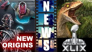 Avengers 2 - Ultron & Vision NEW Origins! Jurassic World Super Bowl 2015! - Beyond The Trailer