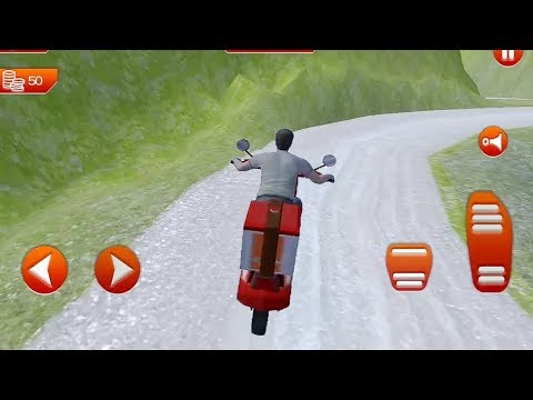 Offroad MotorBike Lunch Delivery : Virtual Game || Bike Games || 3D Bike Driving Game