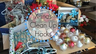 Here are 7 easy tricks that I use when storing Christmas ornaments, lights, wreaths, wrapping paper, ribbon & more!  Hopefully these hacks inspire you too!  Thanks for watching :)Follow me on Instagram:  http://instagram.com/SimplyPreetKaur/