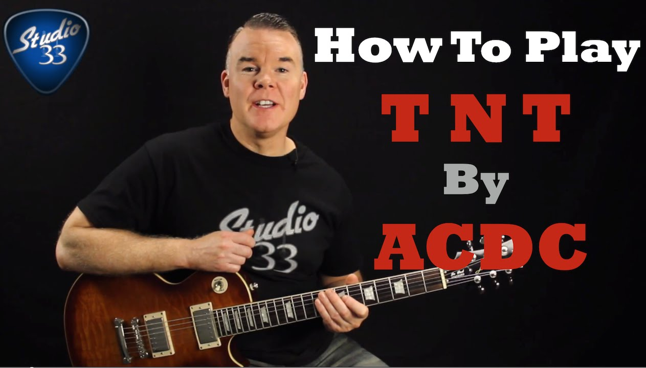 How to play TNT by ACDC on guitar – Easy beginner guitar song