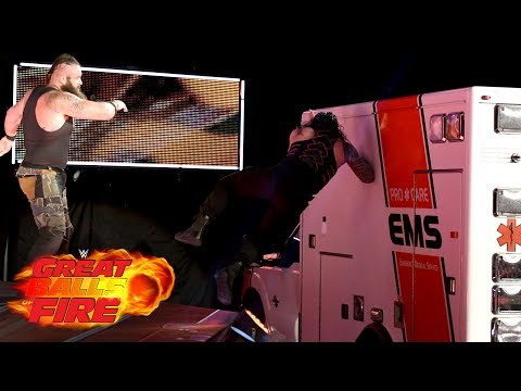 Video Roman Reigns vs. Braun Strowman - Ambulance Match: WWE Great Balls of Fire 2017 download in MP3, 3GP, MP4, WEBM, AVI, FLV January 2017