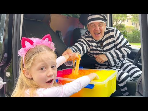 Nastya pretends to play a police chase and learns the safety rules for children