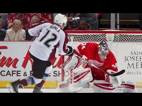 Red - The Colorado Avalanche and Detroit Red Wings head to a shootout on December 21, 2014.