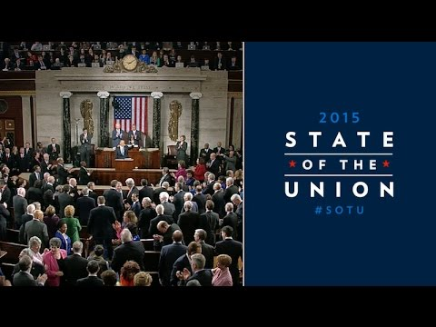 State - President Barack Obama delivers his sixth State of the Union address, at the United States Capitol, January 20, 2015.