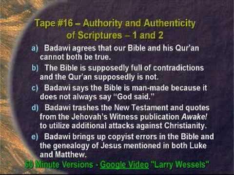 Jamal Badawi Refuted: Biblical God is Not the Islamic God