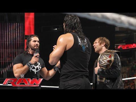Dean Ambrose celebrates his WWE World Heavyweight Championship victory: Raw, June 20, 2016