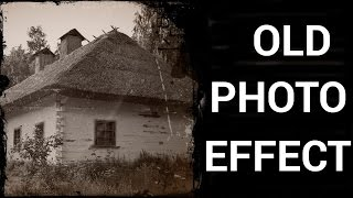 In this tutorial you will learn how to make an old photo effect in Adobe Photoshop.Don't forget to check out our site http://howtech.tv/ for more free how-to videos!http://youtube.com/ithowtovids - our feedhttp://www.facebook.com/howtechtv - join us on facebookhttps://plus.google.com/103440382717658277879 - our group in Google+First make a copy of the background layer by dragging it down to the copy option or press Ctrl or Cmnd J on a Windows or Mac respectively.To de-saturate the image press, Ctrl, or Cmnd Shift U on a Windows, or Mac respectively.Then click on the adjustment button and select brightness and contrastIn the properties, check on Use Legacy, Increase the brightness to 15% and decrease the contrast to -15%.Now click on adjustment button again and select levelsIn the properties panel change the greys to 0.90Now go to filter, noise and add noise. In the properties make the amount to 90% and press ok.Now go to filter, blur and lens blur. Change the radius to 5 and press ok.I will be using this cracked tile image, so select the image and drag it over to the main fileNow press Ctrl or Cmnd Shift U to de-saturate the image. Then press Ctrl or Cmnd I to invert it.Now drag the cracked tile layer above the other layers. Now click on the blending options.Select soft light and decrease the opacity to 40%.Now go to image, adjustments and select levels.In the properties make the blacks to 35, greys to 0.40 and whites to 120, to make the cracks more visible.Now go to image, adjustments and select brightness and contrast.In the properties check on use legacy, increase the brightness to 10 and contrast to 40.Now I have used another image of an old paper, drag this image on to the main fileGo to the blending options and select soft light.Now change the opacity to 50%And this is how you can turn any image in to an old photo.