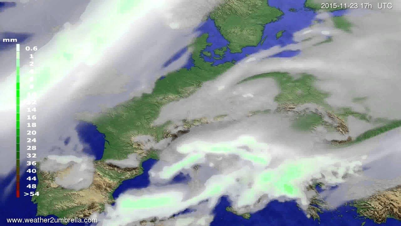Precipitation forecast Europe 2015-11-21